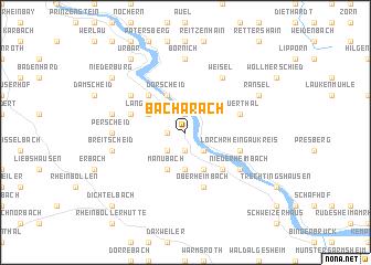 Bacharach (Germany) map   nona.net