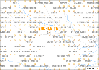 map of Bachleiten