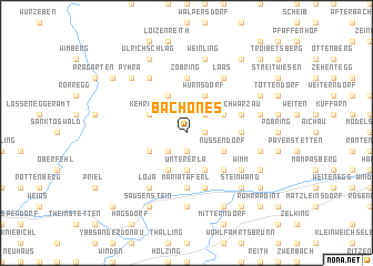 map of Bachones