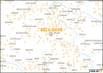 map of Bačilovina