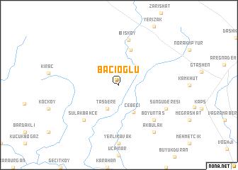 map of Bacıoğlu