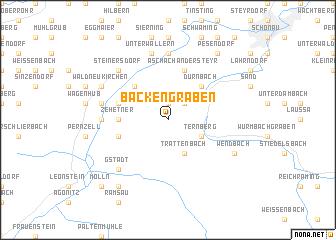 map of Bäckengraben