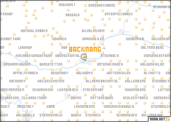 map of Backnang