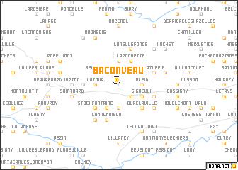 map of Baconveau