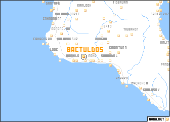 map of Bactul Dos