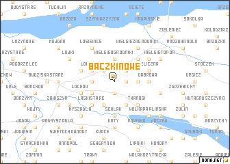 map of Baczki Nowe