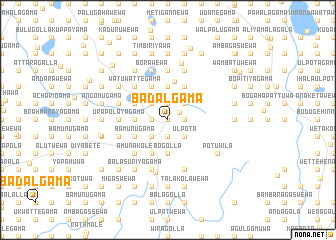 map of Badalgama