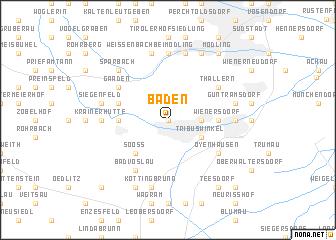 map of Baden