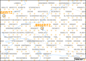 map of Baderitz