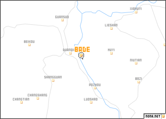 map of Bade
