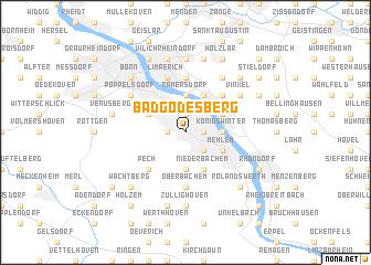 Bad Godesberg Germany map nonanet