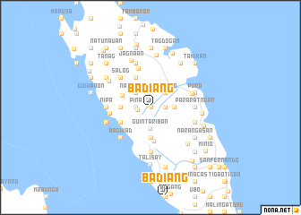 map of Badiang