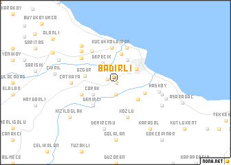 map of Badırlı