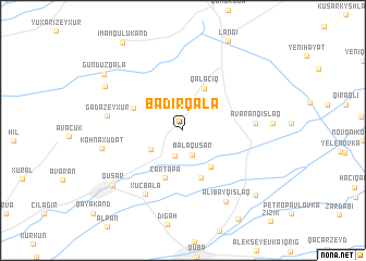 map of Bǝdirqala