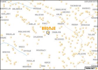 map of Badnje