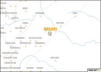 map of Badori