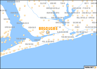 map of Badougbé