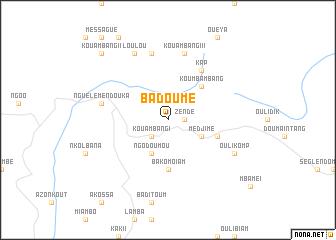 map of Badoumé