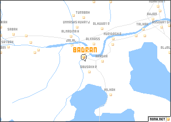 map of Badrān