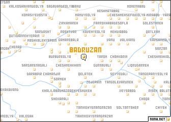 map of Bādrūzan