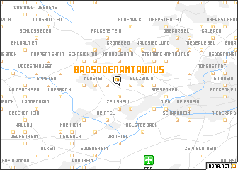 map of Bad Soden am Taunus