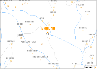 map of Baduma