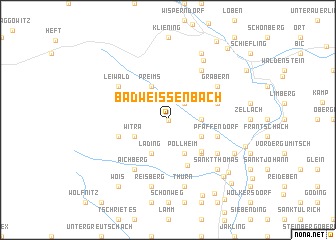 map of Bad Weißenbach