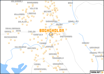 map of Bāgh Gholām