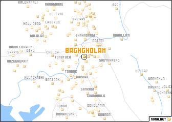 map of Bāgh Gholām