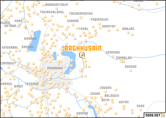 map of Bāgh Husain
