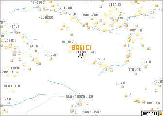 map of Bagići