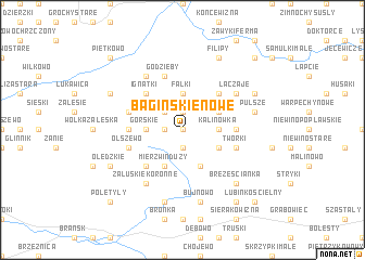 map of Bagińskie Nowe