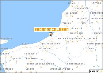 map of Bagnara Calabra