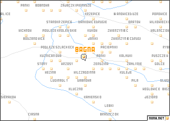map of Bagna