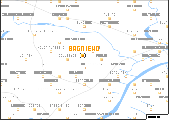 map of Bagniewo