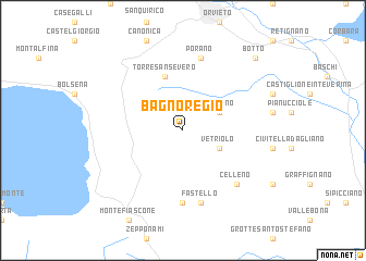 Bagnoregio (Italy) map   nona.net