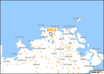 map of Bago