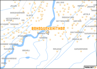 map of Bahādurke Hithār