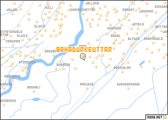 map of Bahādurke Uttār