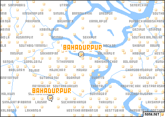 map of Bāhādurpur