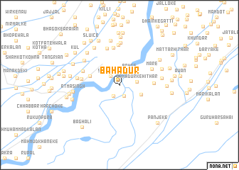 map of Bahādur