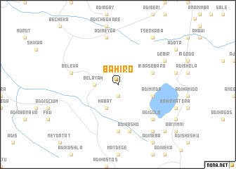 map of Bahiro