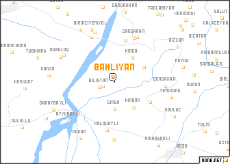 map of Bǝhliyan