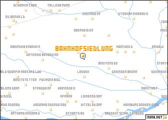 map of Bahnhofsiedlung