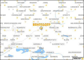 map of Bahnsdorf