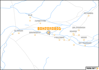 map of Bahrāmābād