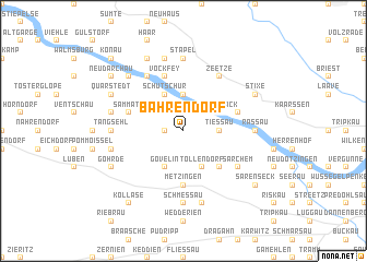 map of Bahrendorf