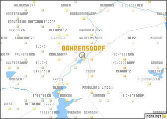 map of Bahrensdorf