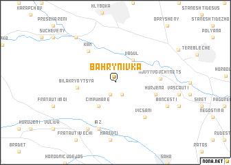 map of Bahrynivka