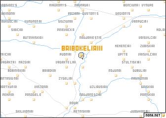 map of Baibokėliai II